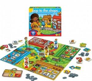Igra za otroke Skok po nakupih razvija otrokovo sposobnost štetja, računanja in logičnega razmišljanja.