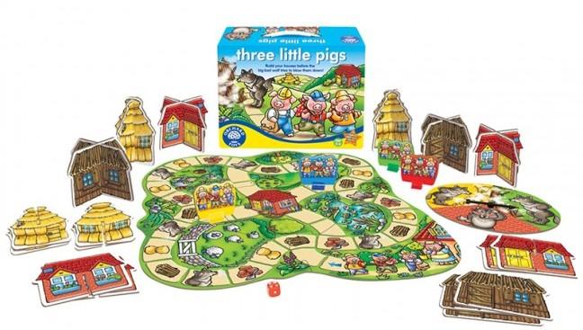 Nekatere igrice za otroke so res odlične, med njimi tudi Trije prašički, ki je vsebinsko narejena po svetovno znani pravljici.